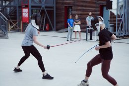 Sabre fencing school
